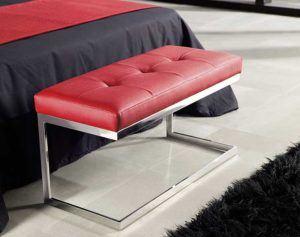 muebles banquetas y chaise longue en acero inoxidable